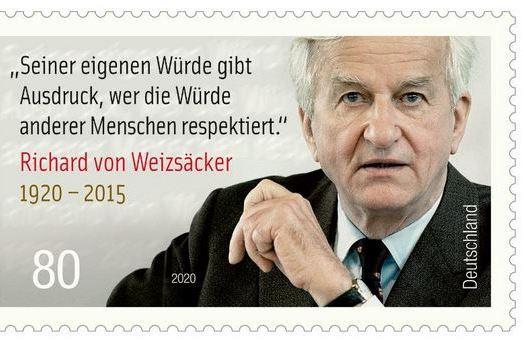 Weizsäcker-Briefmarke herausgegeben